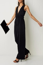 frontrow Black Pleated Jumpsuit - Product Mini Image