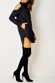 frontrow Black Shirt Dress - Front full body