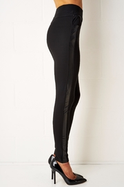 frontrow Black Side Panel Leggings - Front full body