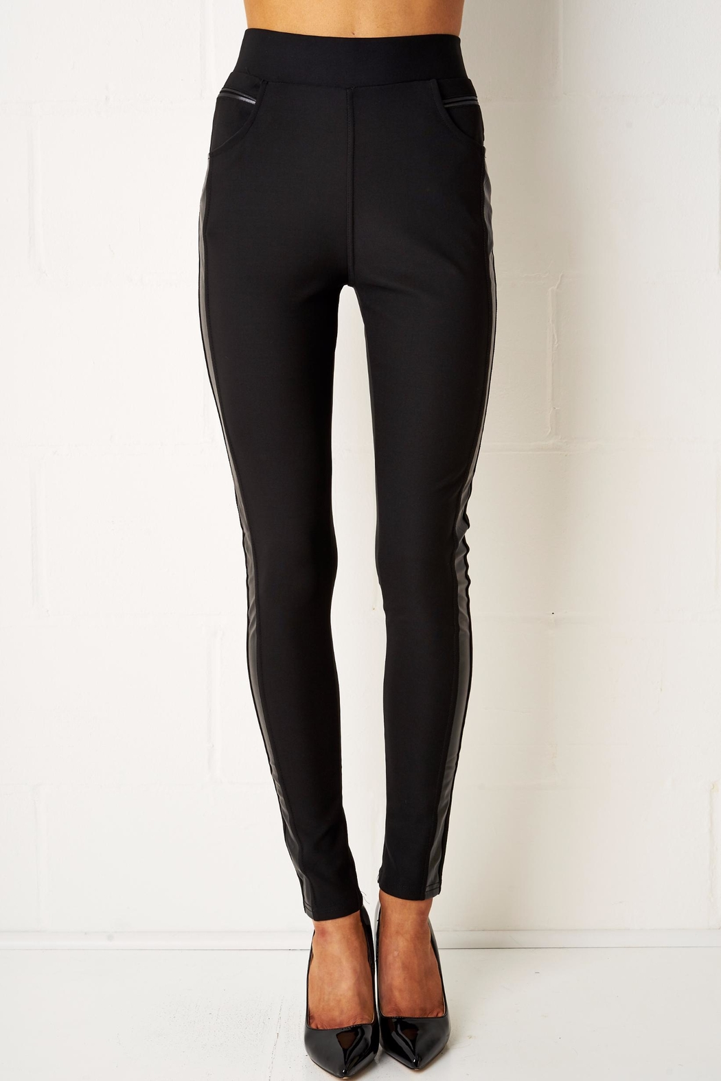 frontrow Black Side Panel Leggings - Main Image