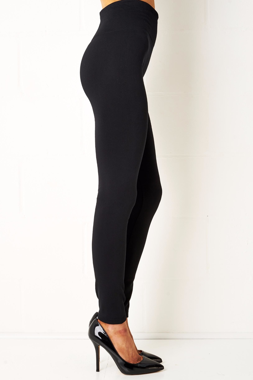 frontrow Black Thermal Leggings - Front Full Image