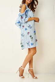 frontrow Blue Floral Dress - Front full body