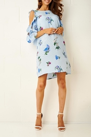 frontrow Blue Floral Dress - Back cropped