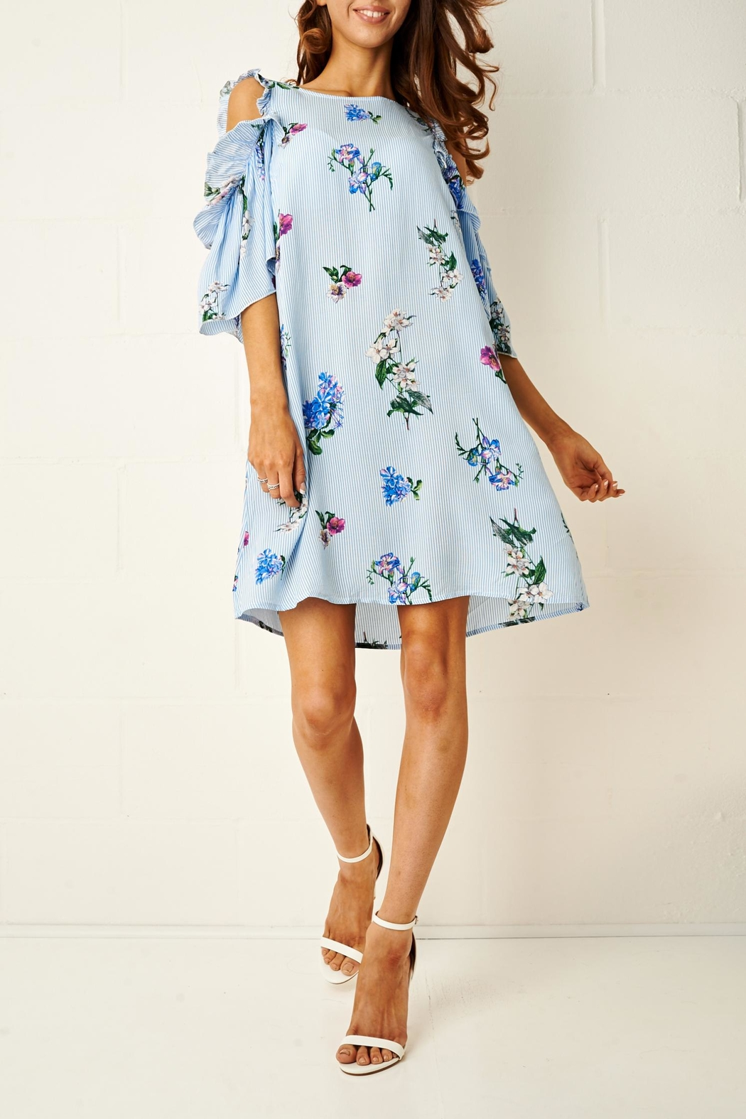 frontrow Blue Floral Dress - Main Image