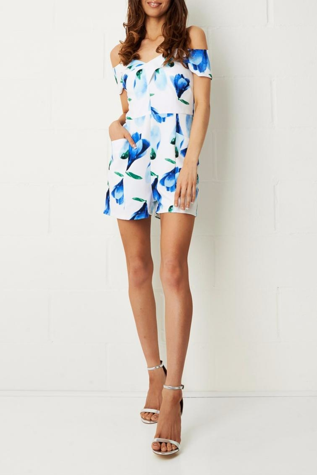 frontrow Blue Floral Playsuit - Main Image