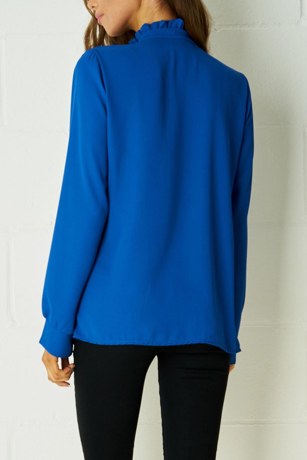 frontrow Blue Ribbon Blouse - Front Full Image
