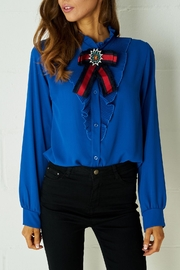 frontrow Blue Ribbon Blouse - Front cropped