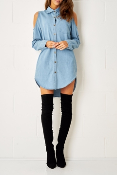 frontrow Blue Shirt Dress - Product List Image