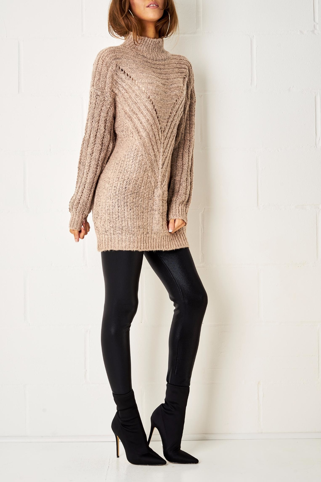 frontrow Cable Knit Jumper - Front Full Image
