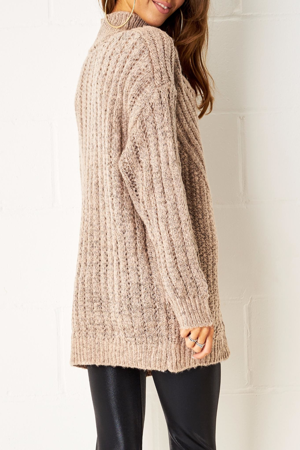 frontrow Cable Knit Jumper - Side Cropped Image