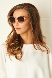 frontrow Cat Eye Tan Sunglasses - Product Mini Image