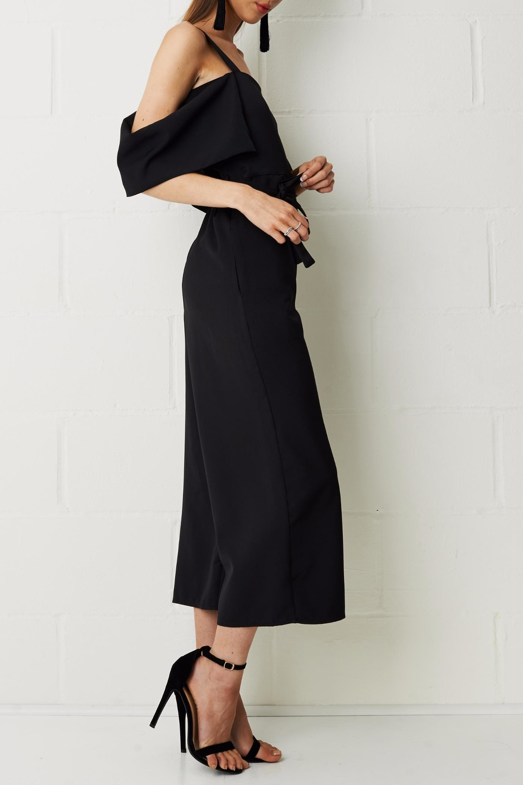 frontrow Thea Culotte Jumpsuit Black - Front Full Image