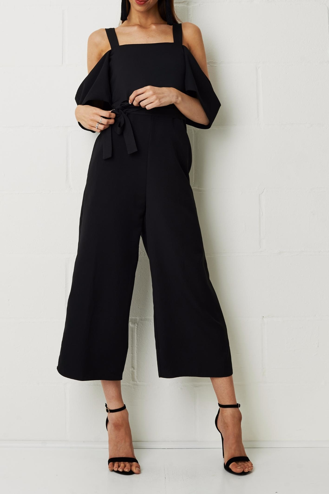 frontrow Thea Culotte Jumpsuit Black - Main Image