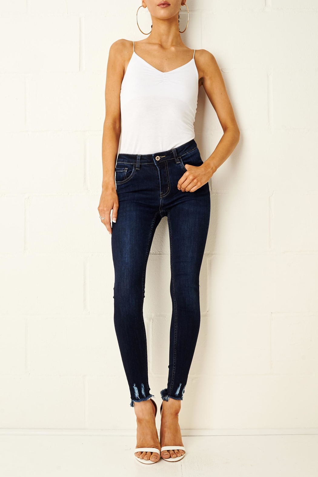 frontrow Lexi Dark Blue Jeans - Front Full Image