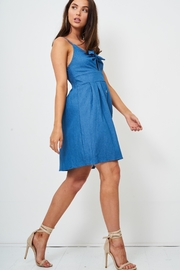 frontrow Denim Knot Detail Dress - Side cropped