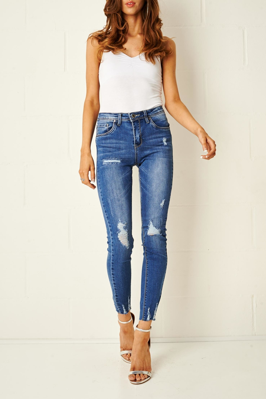 58864f6c15babc frontrow Distress Rip Jeans from Essex by Frontrow — Shoptiques