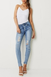 frontrow Distress Rip Jeans - Product Mini Image