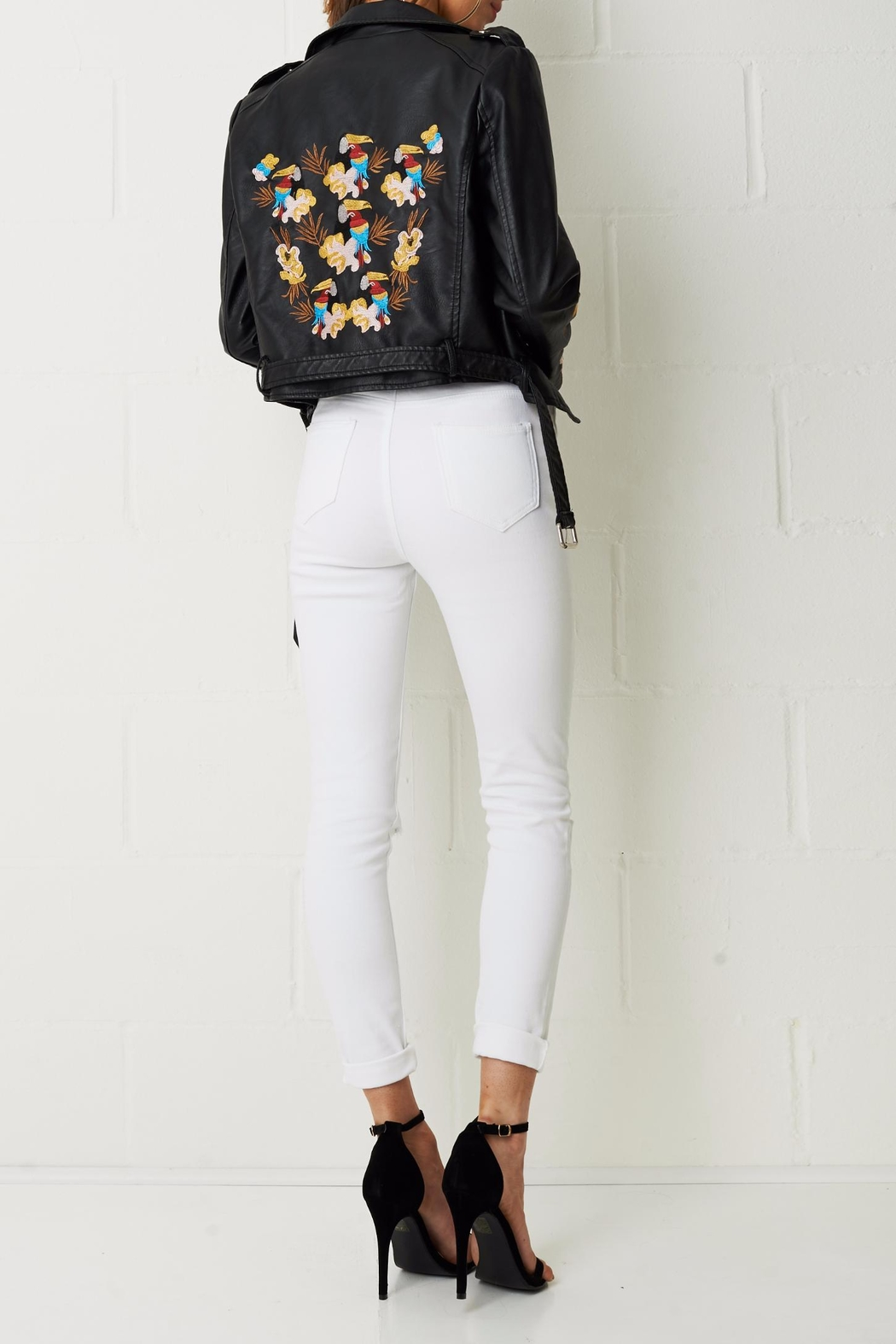 frontrow Embroidered Floral Jacket - Side Cropped Image