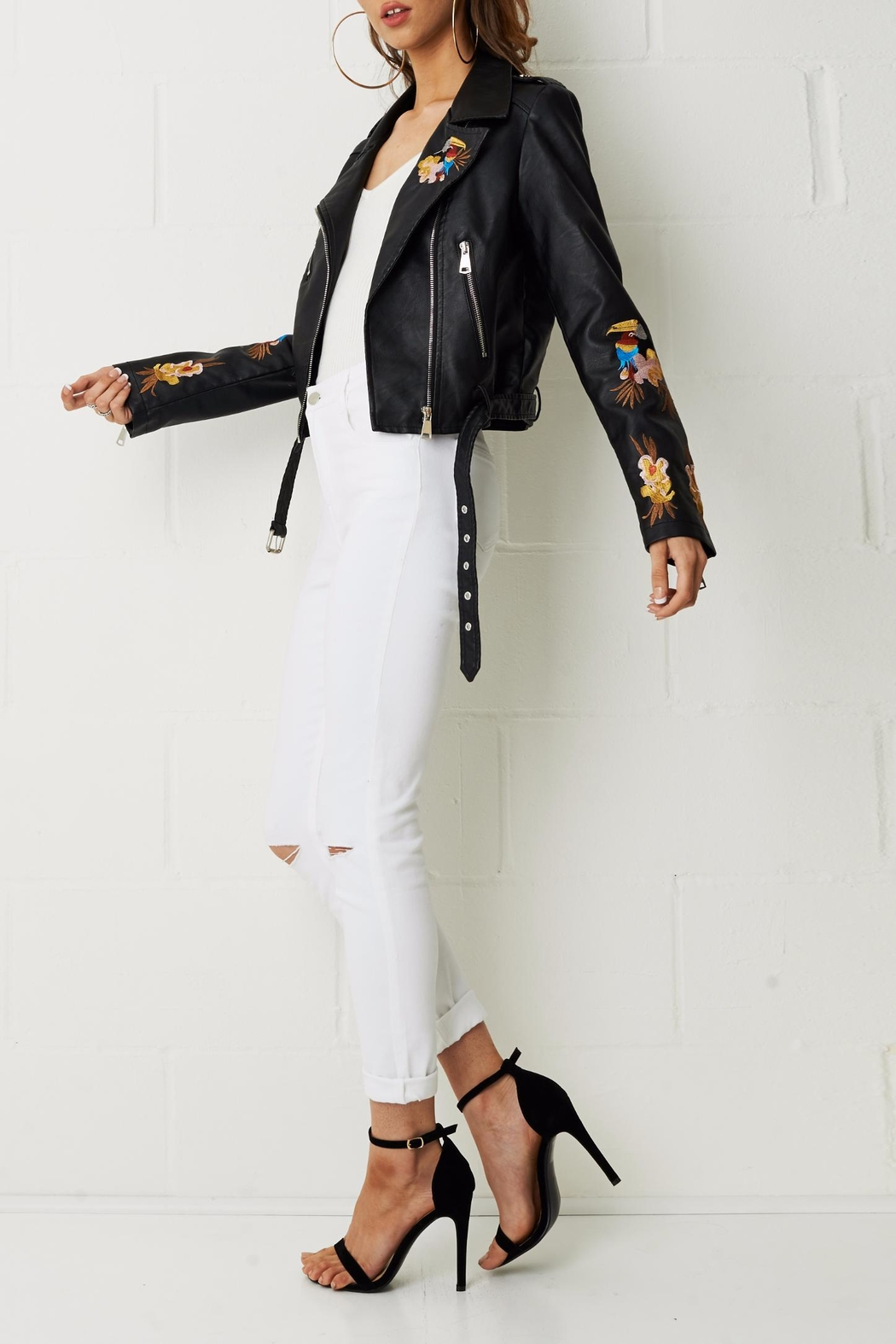 frontrow Embroidered Floral Jacket - Front Full Image