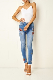 frontrow Embroidered Skinny Jeans - Product Mini Image