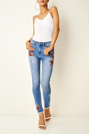 frontrow Embroidered Skinny Jeans - Front full body