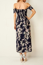 frontrow Floral Bardot Dress - Back cropped