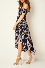 frontrow Floral Bardot Dress - Side cropped