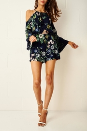frontrow Floral Cold Shoulder Romper - Product Mini Image