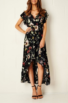 Shoptiques Product: Floral Dipped-Hem Dress