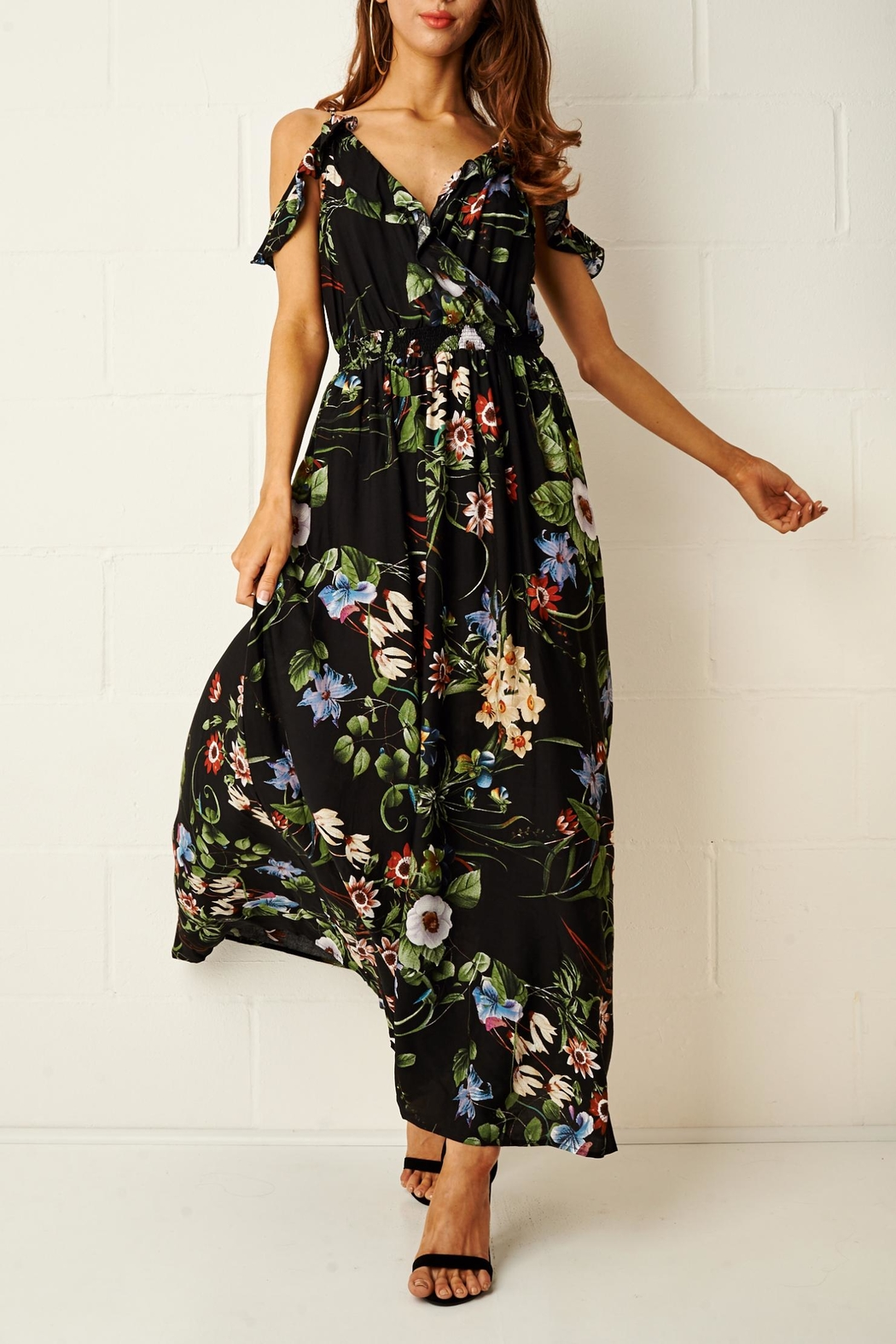 frontrow Paloma Floral Maxi Dress - Front Cropped Image