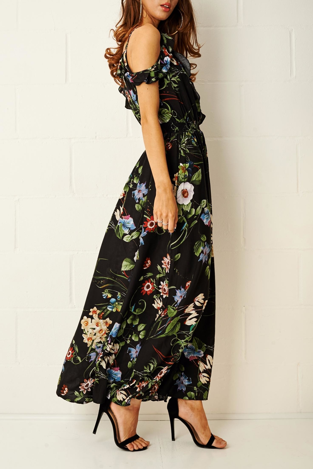 frontrow Paloma Floral Maxi Dress - Side Cropped Image
