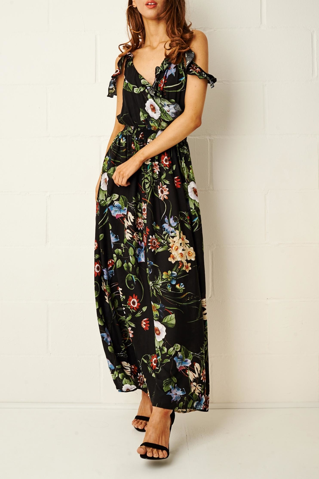 frontrow Paloma Floral Maxi Dress - Front Full Image