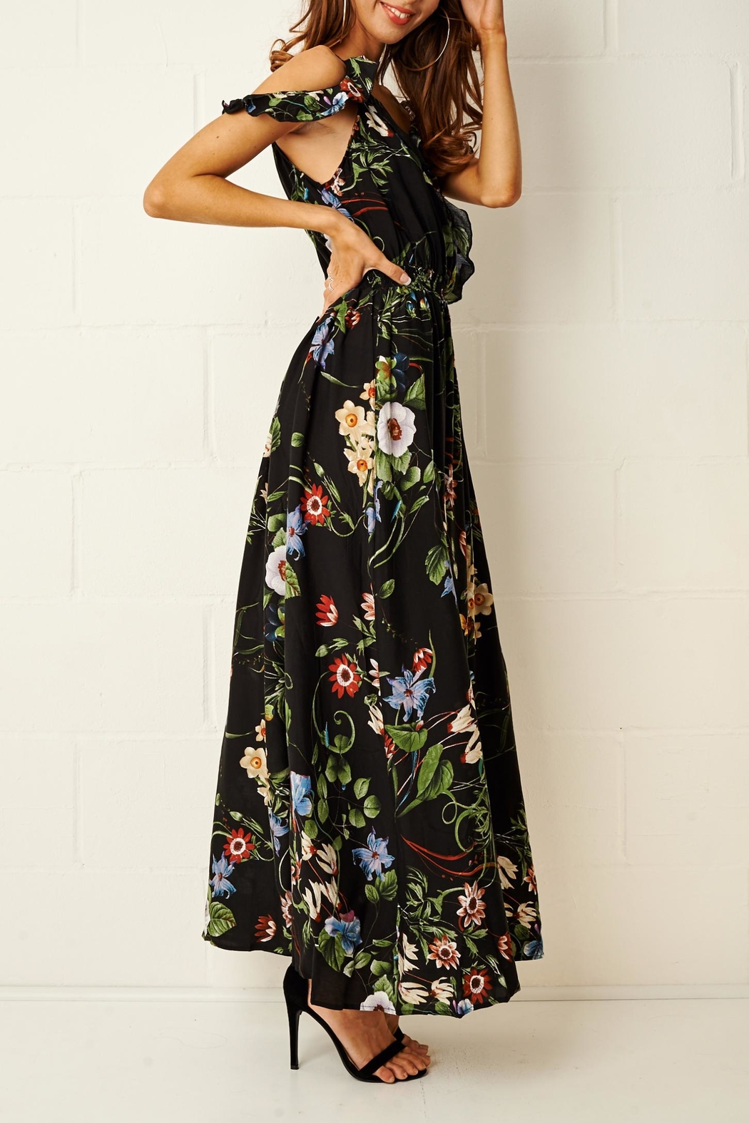 frontrow Paloma Floral Maxi Dress - Back Cropped Image