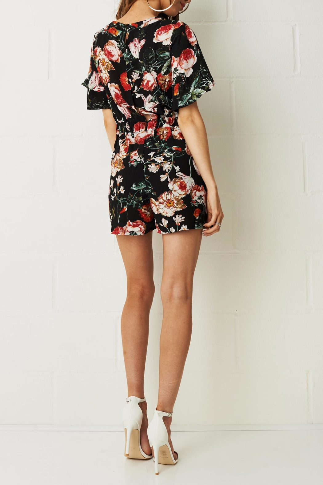 frontrow Dhalia Floral Romper - Side Cropped Image