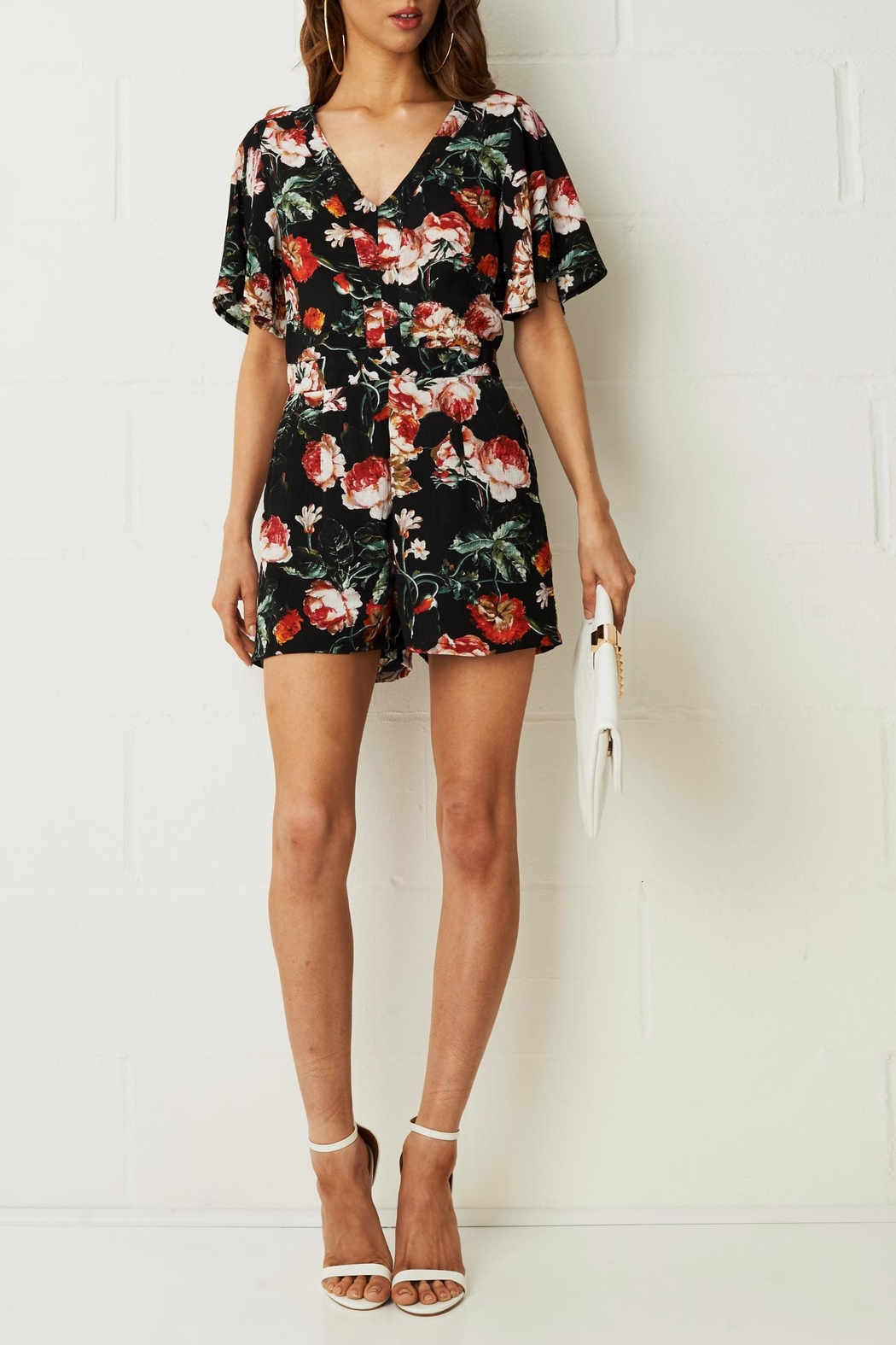 frontrow Dhalia Floral Romper - Main Image