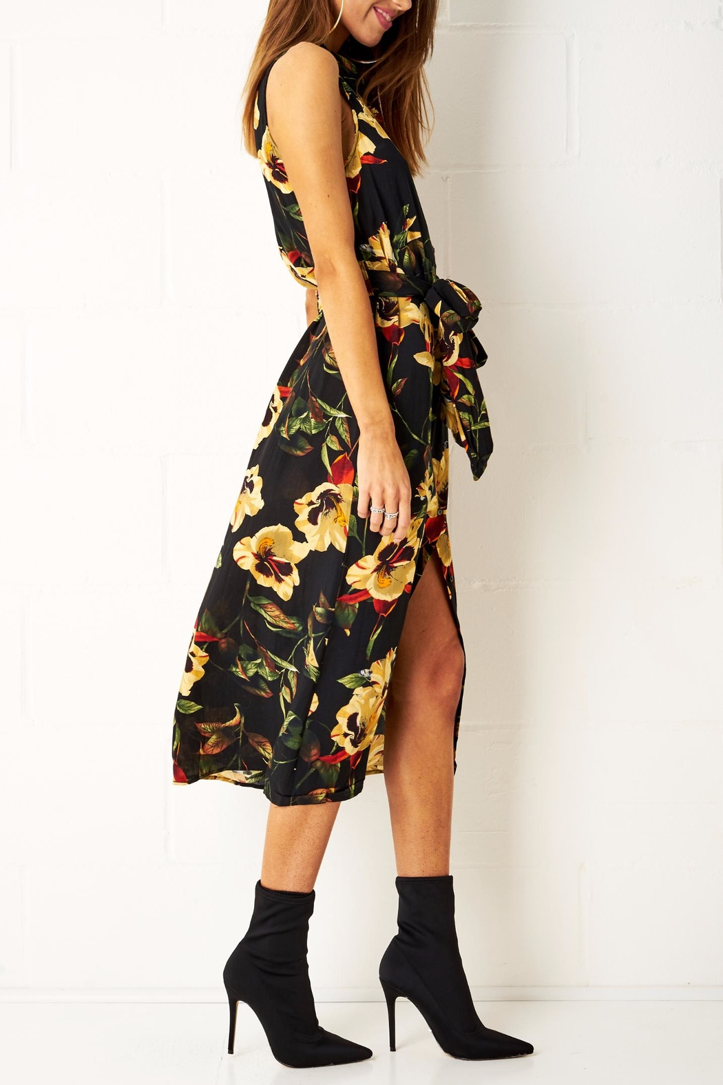 frontrow Floral Shirt Dress - Front Full Image