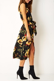 frontrow Floral Shirt Dress - Front full body
