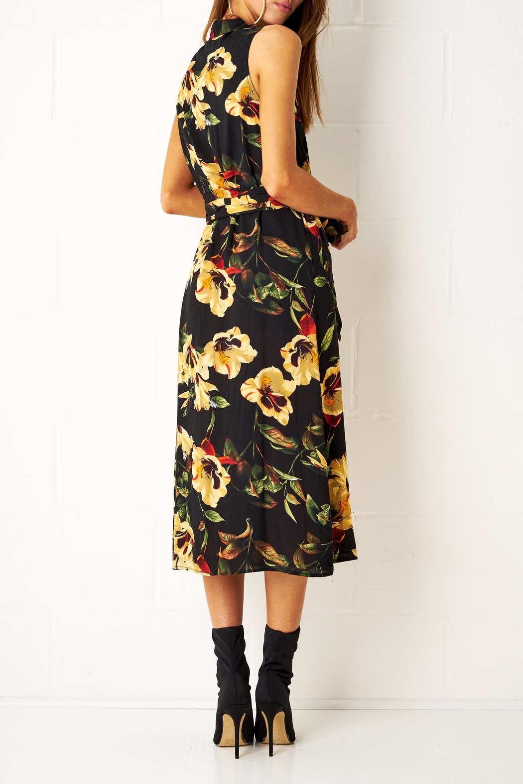 frontrow Floral Shirt Dress - Side Cropped Image