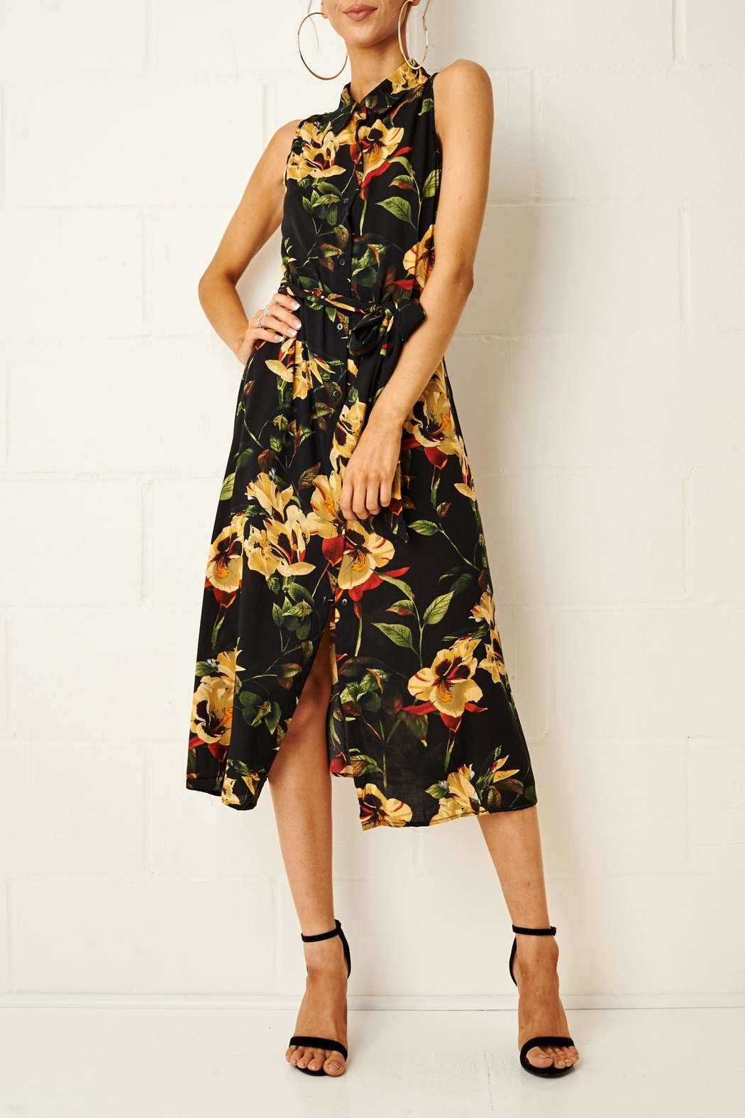 frontrow Harlinne Floral Shirt Dress - Main Image