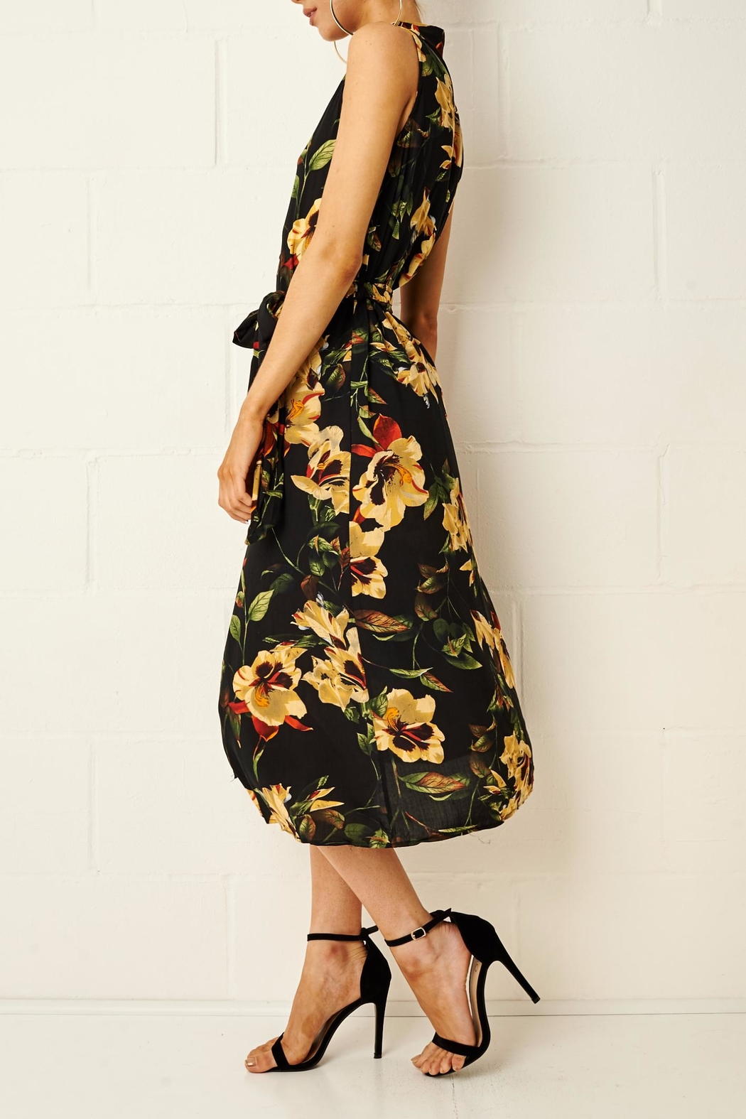 frontrow Harlinne Floral Shirt Dress - Side Cropped Image