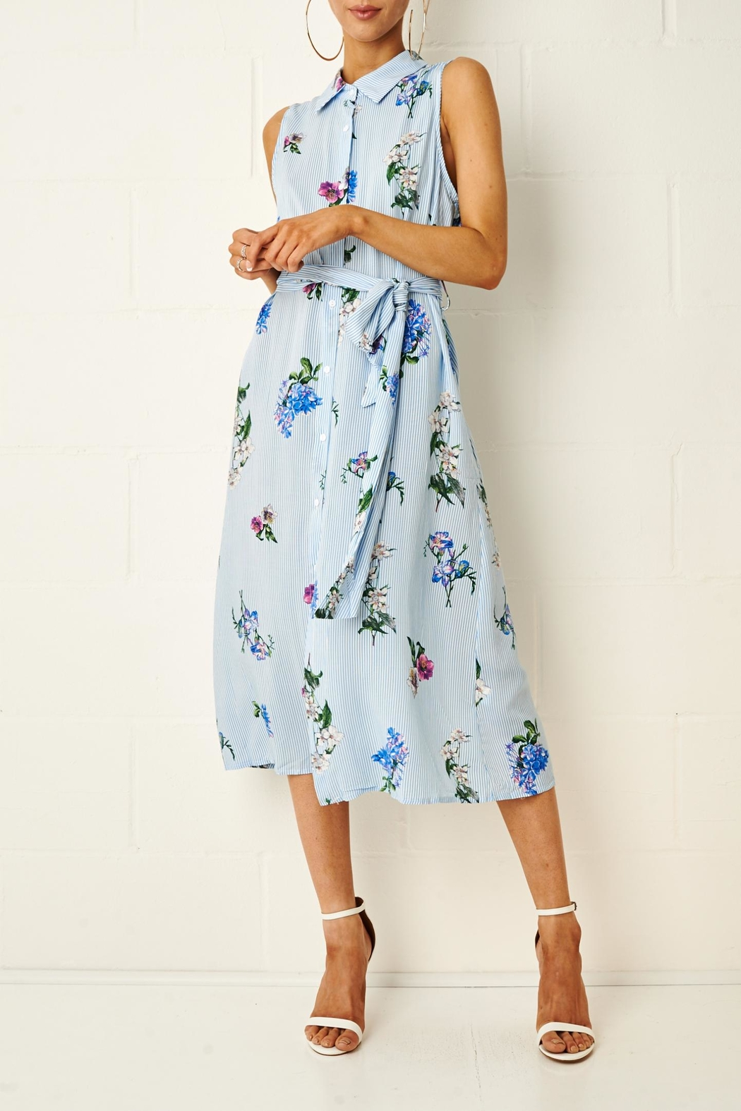 frontrow Corrine Floral Shirt Dress - Main Image