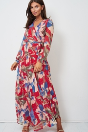 frontrow Floral Wrap Dress - Back cropped