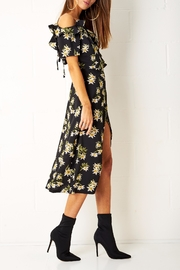 frontrow Floral Wrap Dress - Front full body