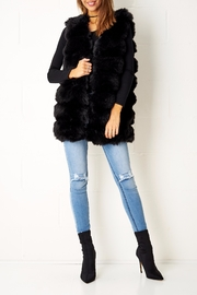 frontrow Fur Gilet Black Vest - Product Mini Image