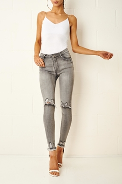 Shoptiques Product: Grey Rip Jeans