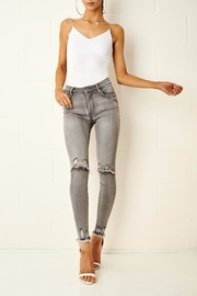 frontrow Grey Rip Jeans - Product Mini Image