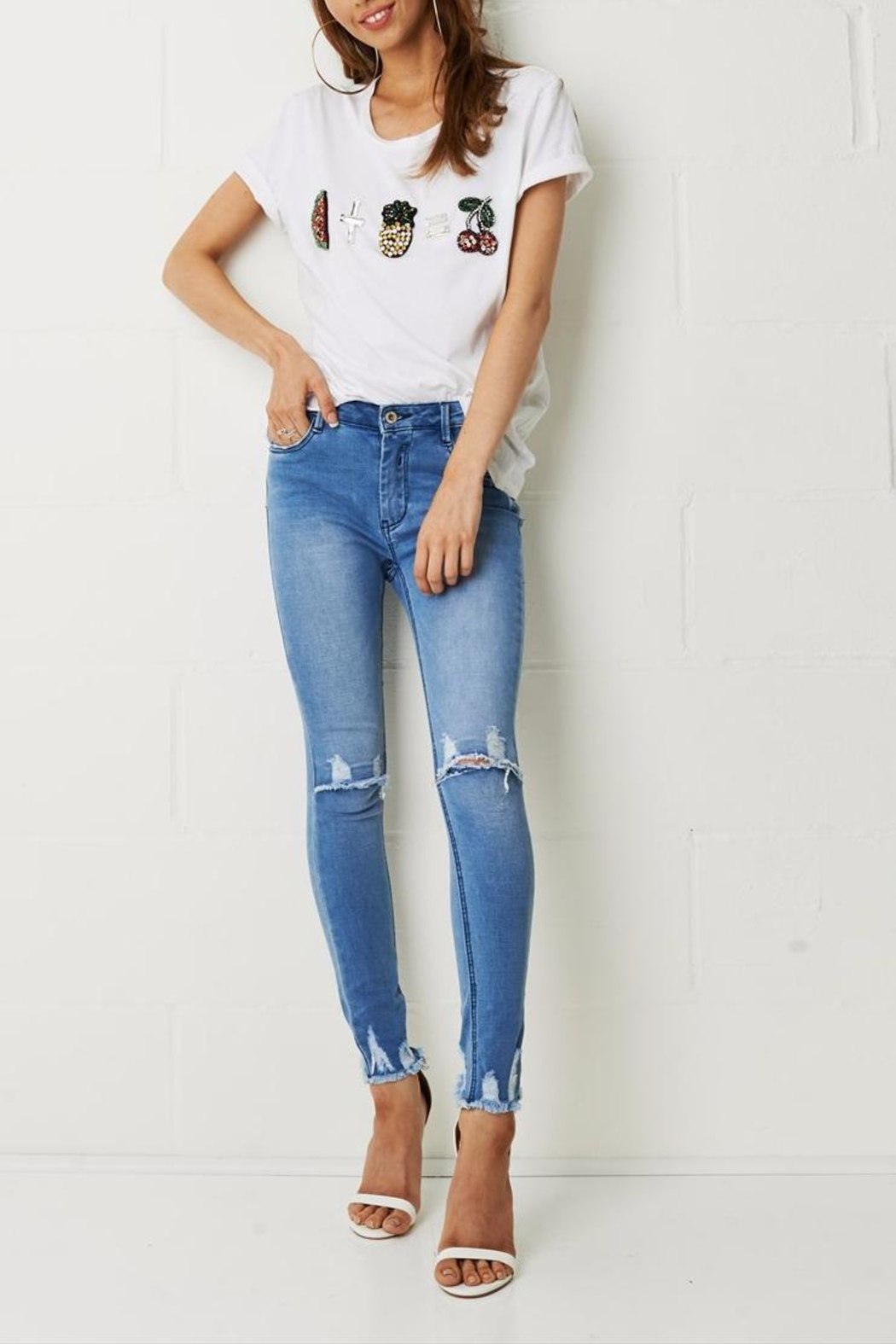 frontrow Knee Rip Jeans - Main Image