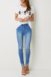 frontrow Knee Rip Jeans - Front full body