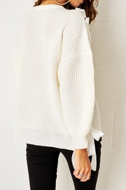 frontrow Lace Up Sweater - Side cropped