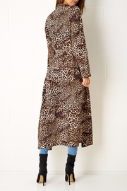 frontrow Leopard Print Coat - Side cropped